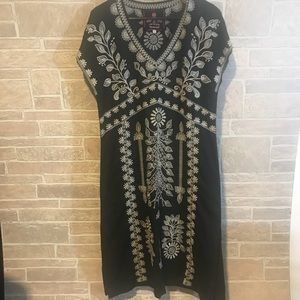 Johnny Was Embroidered Long Dress Size Small